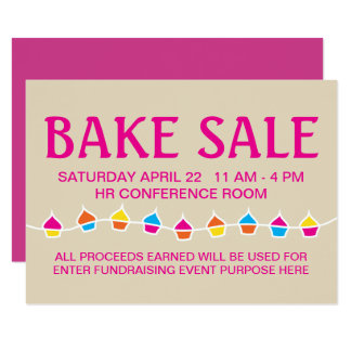 bake sale handbill flyers card