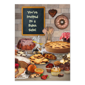 "Bake Sale Invitation 4.5"" X 6.25"" Invitation Card"