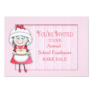 BAKE SALE INVITATION - PERSONALIZE - CHEF