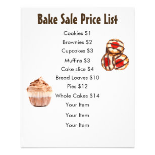 pricing baked goods for sale