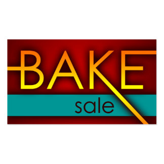 bake sale promo cards Double-Sided standard business cards (Pack of 100)