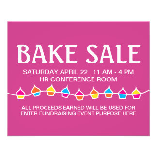 bake sale retro flyers