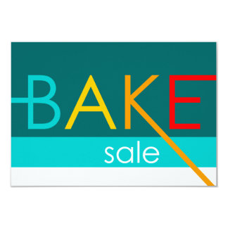 bake sale (typographic) card