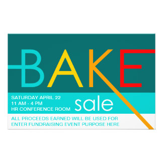 bake sale typographic flyers