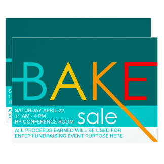 bake sale typographic flyers card