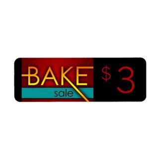 bake sale typographic flyers label