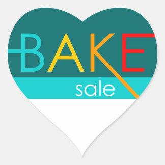bake sale (typographic) heart sticker