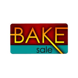 bake sale (typographic) label