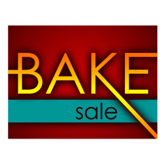 bake sale (typographic) postcard