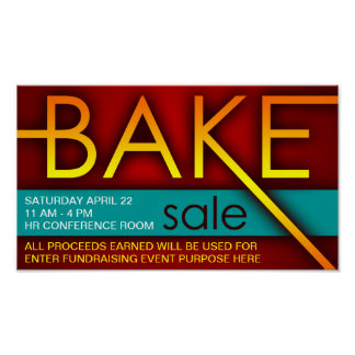 bake sale (typographic) poster