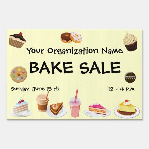 Bake Sale Yard Sign Zazzle