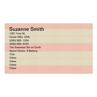 Bake Shoppe Bizz Card Double-Sided Standard Business Cards (Pack Of 100)