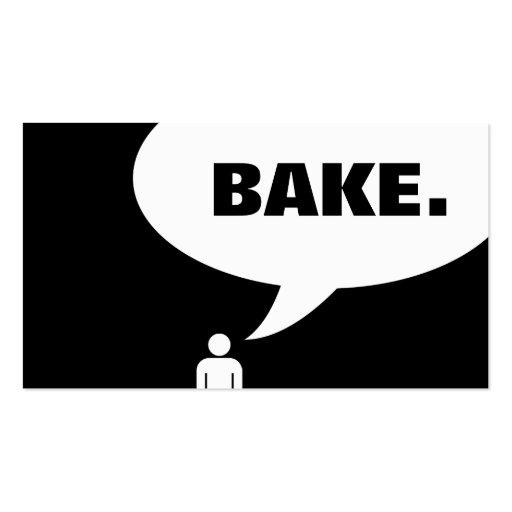 BAKE. speech bubble Business Card Template