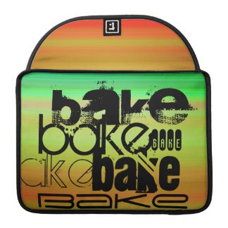 Bake; Vibrant Green, Orange, & Yellow Sleeve For MacBooks