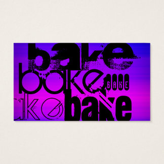 Bake; Vibrant Violet Blue and Magenta Business Card