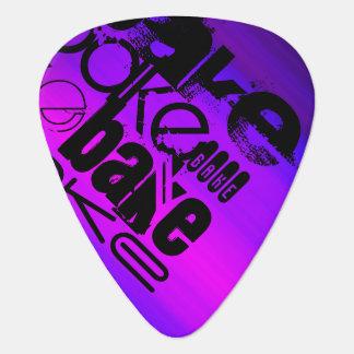 Bake; Vibrant Violet Blue and Magenta Guitar Pick