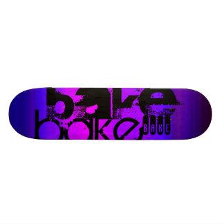 Bake; Vibrant Violet Blue and Magenta Skateboard Deck