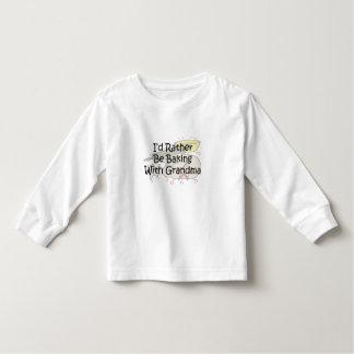 bake with grandma toddler t-shirt