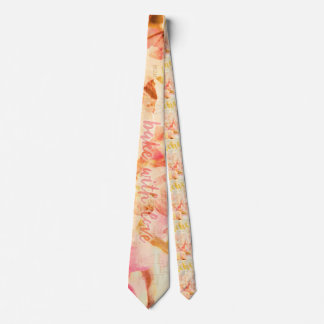 Bake with love and peaches collage neck tie