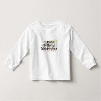 bake with my aunt toddler t-shirt