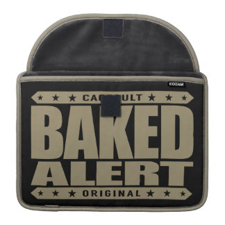 BAKED ALERT - Love Flying Kites Very High, Gold Sleeve For MacBook Pro