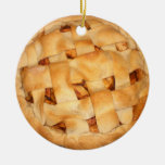 Baked Apple Pie Double-Sided Ceramic Round Christmas Ornament
