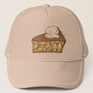Baked Apple Pie Slice A La Mode Dessert Hat
