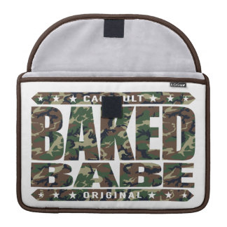 BAKED BABE - High-Flying Empowered Female, Camo MacBook Pro Sleeve