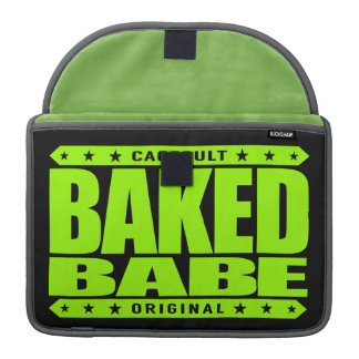 BAKED BABE - High-Flying Empowered Female, Lime MacBook Pro Sleeve