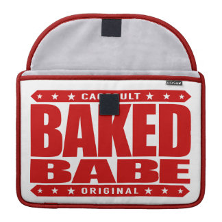 BAKED BABE - High-Flying Empowered Female, Red MacBook Pro Sleeve