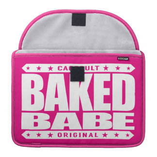 BAKED BABE - High-Flying Empowered Female, White MacBook Pro Sleeve