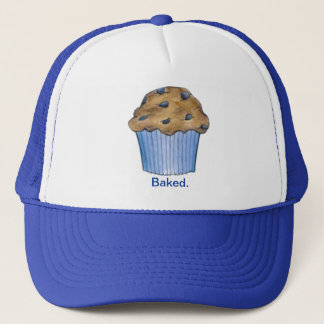 Baked Baking Blueberry Muffin Breakfast Food Hat