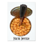 "Baked Beans in Tin Can with Spoon 5"" X 7"" Invitation Card"