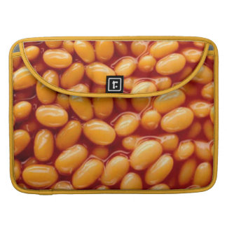 Baked beans on MacBook Pro sleeve