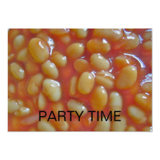 Baked Beans Party Time Invitation