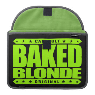 BAKED BLONDE - Love Flying Kites Very High, Lime Sleeve For MacBooks