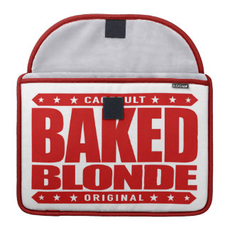 BAKED BLONDE - Love Flying Kites Very High, Red Sleeve For MacBook Pro