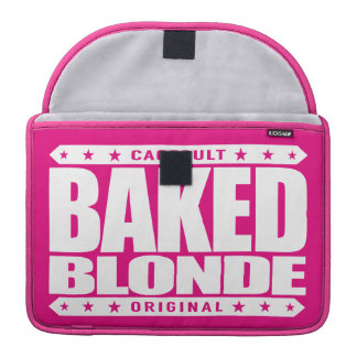 BAKED BLONDE - Love Flying Kites Very High, White MacBook Pro Sleeve