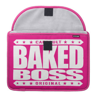BAKED BOSS - I Smoke Out The Competition, White Sleeve For MacBook Pro
