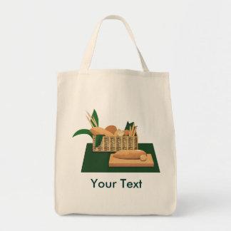 Baked Bread Basket Grocery Tote Grocery Tote Bag