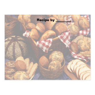 Baked Breads Recipe 2 Blank Card