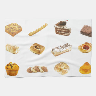 Baked Cakes and Pastries Hand Towel