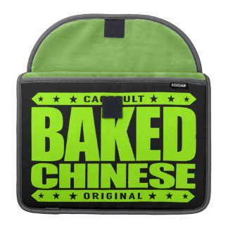 BAKED CHINESE - I Am Expert Dragon Chaser, Lime Sleeve For MacBooks
