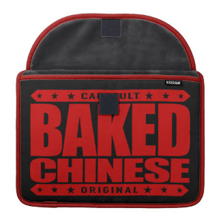 BAKED CHINESE - I Am Expert Dragon Chaser, Red MacBook Pro Sleeve