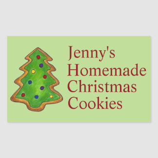 Baked Christmas Sugar Cookie Personalized Stickers