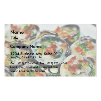 Baked Clams With Champagne Sauce And Pancetta Business Card Template