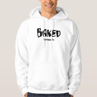 Baked Clothing Company White Hoodie ~ Version One