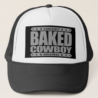 BAKED COWBOY - I Love Rodeos and Munchies, Silver Trucker Hat