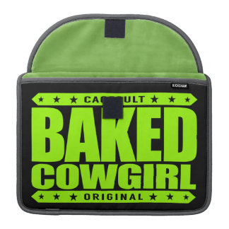 BAKED COWGIRL - Brownie Loving Country Gal, Lime Sleeve For MacBook Pro