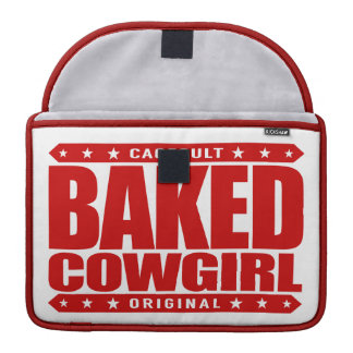 BAKED COWGIRL - Brownie Loving Country Gal, Red MacBook Pro Sleeve